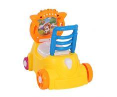 Goolsky 3 en 1 Bébé Unisexe Poilette pot Pony Music Trotteur Trolley pour Enfants Bébé