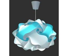 Creativ Lamp Plafonnier Chambre Enfant Entièrement Montée - Ampoule Led Cordon Pavillon Inclus - Ø 40 cm - Colorette Turquoise