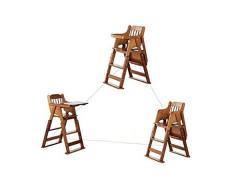 Siège d'appoint de luxe Healthy Care, pliable portable multifonction - Chaise de salle à manger en bois massif bébé, pour enfants à partir de 6 mois - 6 ans,C