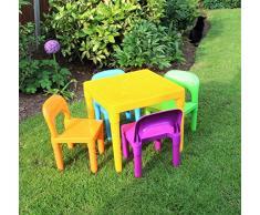 HOME HUT Maison Refuge de Grande Table et chaises pour Enfant Grande Plastique – Enfants Tout-Petits Enfant – Cadeau