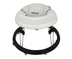 Fascol - Trotteur Bébé Ronde pour Apprendre à Marcher Pliable et Réglable en Hauteur (40-42-44cm) - Blanc