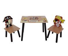 Bebe Style Pirate Table/Chaise d'Enfant en Bois