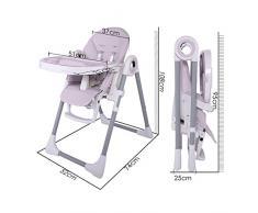 Smibie Chaise Haute Bébé Enfant Chaise Pliante Réglable Inclinable Chaise Multi-usage réglable hauteur dossier et tablette-Gris