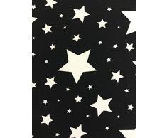 Universel comfi-cush réversible design en mousse visco-élastique Poussette – Noir avec étoiles blanches