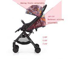 Capot réglable spacieux de position de couchette de roue de verrouillage de mère de chariot de poussette compacte pour les nouveau-nés 0-36 mois