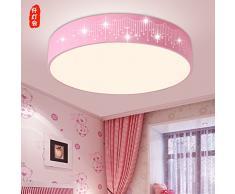 GQLB Chambre d'enfant Lustre Chambre Garçon Fille Princesse Lumière Lumières étoiles chambre Rose, éclairage LED lumière blanche 25 CM