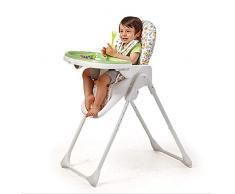 Chaise Haute Pliante, Chaise Haute Et Rehausseur, Chaise Haute pour Bébé Et Tout-Petit (Vert)