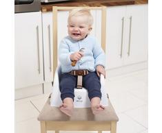 Rehausseur de chaise enfant par EZ-Bugz, siège bébé pour manger à table sans chaise haute pliante. De 6 à 18 mois.