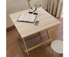 DJZDZ Z4D0Z8 Table pliante en bois pour ordinateur portable/bureau denfant/petite table décorative 70 x 70 x 70 cm