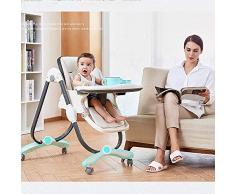 WYQBBY Chaise haute, chaise de bébé à manger pliante chaise de bébé portable table à manger multifonction et siège de chaise pour enfants à manger chaise deux roues (6 mois à 3 ans) ( Color : Style8 )