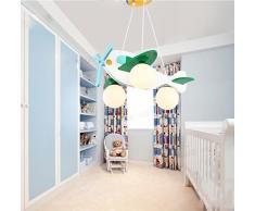 Lily's-uk Love Mignon petit avion lumières enfants lustre Creative chambre de dessin animé lumières enfant garçon chambre éclairage