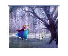 AG design 4006/fCC xxl rideau voilage pour chambre d'enfant motif la reine des neiges disney