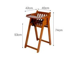 Chaise pour enfants en bois massif multifonction portable pliable peut être retourné chaise bébé