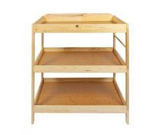 Elitehousewares WoodLuv Lot Commode à langer bébé Station Table Unité