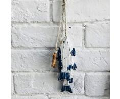 LIOOBO Poisson en bois ornement décoration nautique Figure animale pendentif pour enfants chambre denfant en bois Artisanat Table décoration