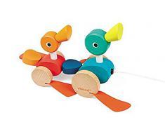 Janod - J08211 - Jouet À Tirer - Duck Family À Promener