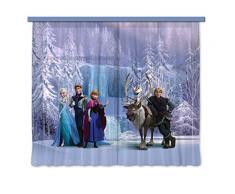 AG design 4007/fCC xxl rideau voilage pour chambre denfant motif la reine des neiges disney