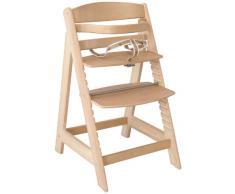 roba Chaise haute évolutive Sit Up III, en bois naturel, chaise haute qui suit la croissance de votre enfant, de chaise haute devient chaise.