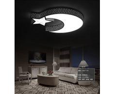 GQLB Les chambres lumière plafonnier créative WLED 24 lustre lampe chambre d'enfant 3 étoiles lune 500*100M, couleurs libres