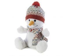 Warmies Cozy Plush Peluche chauffante au micro-ondes, bonhomme de neige en peluche