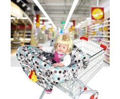 Househome Protection Caddie pour Bébé, Coussin pour Chaise Haute, Couverture de chariot de 2 dans-1 et couverture de chaise haute, Coupe universelle, Ultra Plush