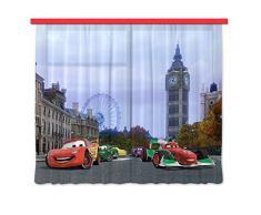 AG design xxl fCC/4000 rideau voilage pour chambre d'enfant motif cars de disney