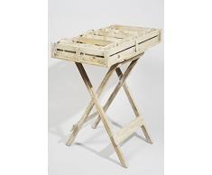 Table basse d'appoint bois naturel 70 x 50,5 x 78 cm pour enfant pliant en bois