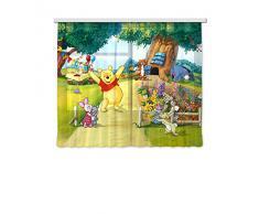 AG design fCC xl/6309 rideau voilage pour chambre d'enfant motif winnie l'ourson de disney