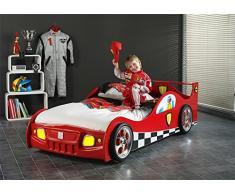 Smartbed - Lit Enfant Voiture Monza Sc865B - Sc865R Smart Bed 90 X 200 Rouge