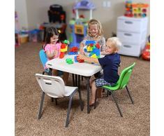 Lifetime 80425 Table Pliante carrée Enfant 61 x 61 cm-Beige Amande, 61,5 x 61,2 x 53,5 cm
