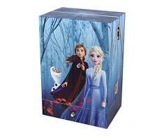 TROUSSELIER - DISNEY - La Reine des Neiges 2 - Frozen 2 - Figurine Elsa - Grande Boite à Bijoux Musicale Coiffeuse - Idéal Cadeau Jeune Fille - Musique du film Liberée Délivrée - Colori Bleu