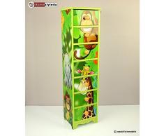 Enfants commode bébé armoire enfants meuble étagère jungle + tiroirs