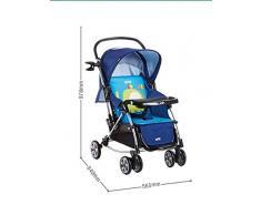 Chaise pivotante à quatre roues pliante à double chaise Chariot multifonction bébé ( Couleur : Rouge )
