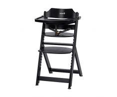 Safety 1st 2762736000 Safety 1st Timba Chaise haute évolutive en bois Table amovible de 6 mois à env. 10 ans (max. 30 kg), noir foncé (noir), noir