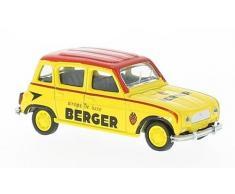 Renault 4, jaune/rouge, Cycliste Berger (F), 1964, voiture miniature, Miniature déjà montée, Norev 1:64