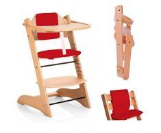 Star Ibaby Evo Chaise haute pliante évolutive, Rouge