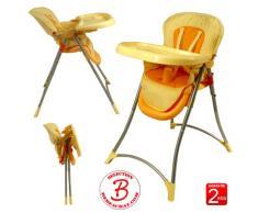 Chaise haute pliante orange