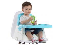 Infant Sit Sit Portable Booster, Chaise multifonctionnelle portative pliante pour bébé, Chaise en plastique pour enfants, Convient aux enfants à partir de 6 mois - 3 ans,blue
