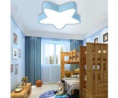 GQLB Plafonnier pour chambre d'enfant chambre garçon fille ferrari de chambre à l'éclairage LED 450mm, bleu