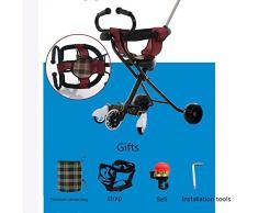 Poussette Bébé Chariot Portatif Léger Se Pliant D'artefact De Tricycle D'enfants Avec La Poupée D'artefact,E