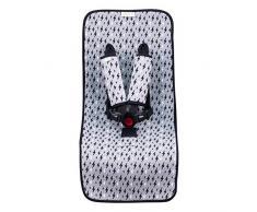 JANABEBE housse réversible universal couverture pour poussette (Black Rayo)