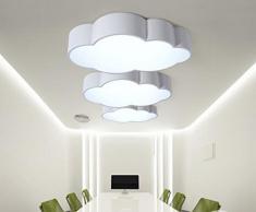 Ayaya Plafonnier LED pour chambre d'enfant en forme de nuage Intensité variable