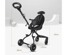 GHDE& Poussette Buggy Poids léger des Gamins Tricycle avec Pédale et Siège réversible Portion libérer Les Mains de la mère (Portant 15KG)