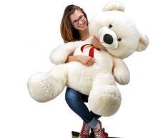 Nounours peluche ours géant XXL Teddy Bear 100cm blanc