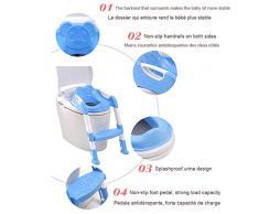 Da. Wa Siège/Pot pour Bébé avec Echelle Enfants Siège de Toilette WC pour Enfant Chaise Pot Bébé Pliante Pot d'Apprentissage Toilette Trainer