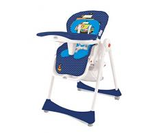 Chaise haute pliante évolutive Baby Fox Elegant Adventure Bleu