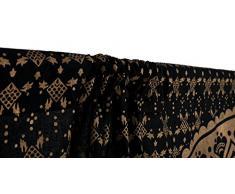 Rideaux indien ethnique Noir Doré ombré Mandala Décor, Mandala Tapisserie de méditation Motif psychédélique rond, fenêtres traitements, le salon enfants pour chambre de fille Ensemble de 2 panneaux, 208,3 x 208,3 cm