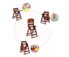 Sièges d'appoint de luxe Healthy Care, chaise de repas pliante en bois massif pour enfants, siège de bébé multifonction réglable, portable pour enfants de 6 mois à 6 ans,B