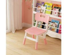 Étude pour enfants bureau table unique enfants et des chaises, bois hauteur réglable, bébé manger, jeux, tables à dessin, aucun outil for installer Siège denfant ( Color : Pink , Size : 1 chair )