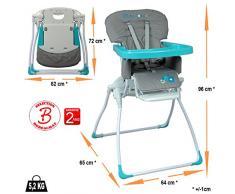 Chaise haute bébé pliante extra compacte
